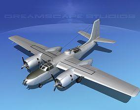 3D Douglas A-26B Invader Bare Metal