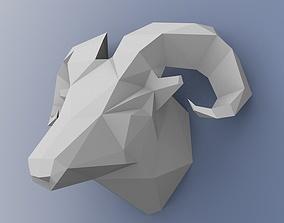 lowpoly Aries 3D print model