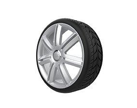 Audi S3 wheel 3D printable model pirelli