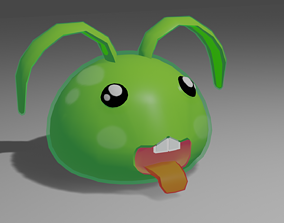 3D model Cute low poly Bunny Slime