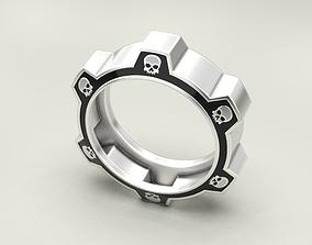 3D print model Ring gear with skulls under the enamel