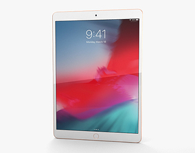 Apple iPad Air 2019 Cellular Gold 3D