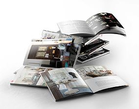3D Books and Magazines models