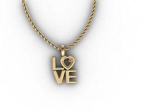 jewellery 3D printable model love pendant