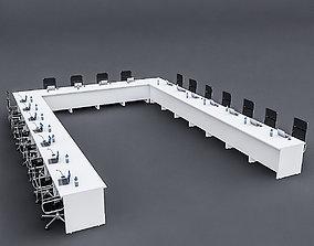 3D model Modular Meeting table