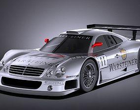 3D Mercedes-Benz CLK GTR 1998 VRAY