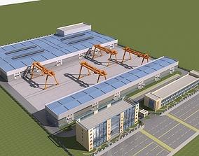3D model Factory building 1