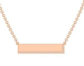 wedding Women necklace pendant 3dm stl render detail