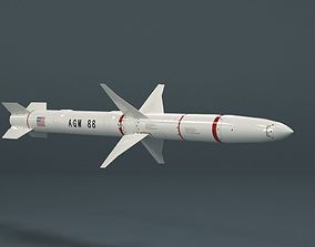 Missile 3D animated