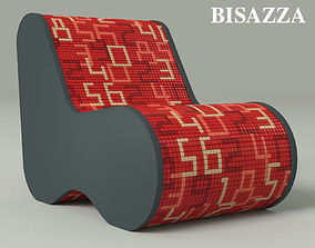 3D model Single Soft armchair by Bisazza