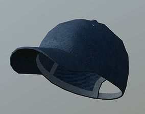 Denim Cap 3D asset