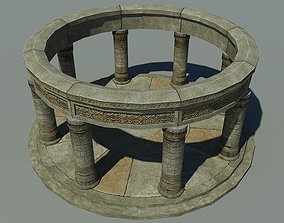 Ancient Altar 3D asset game-ready