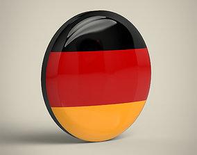 Germany Badge 3D asset
