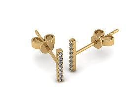 3D print model fashion Earrings