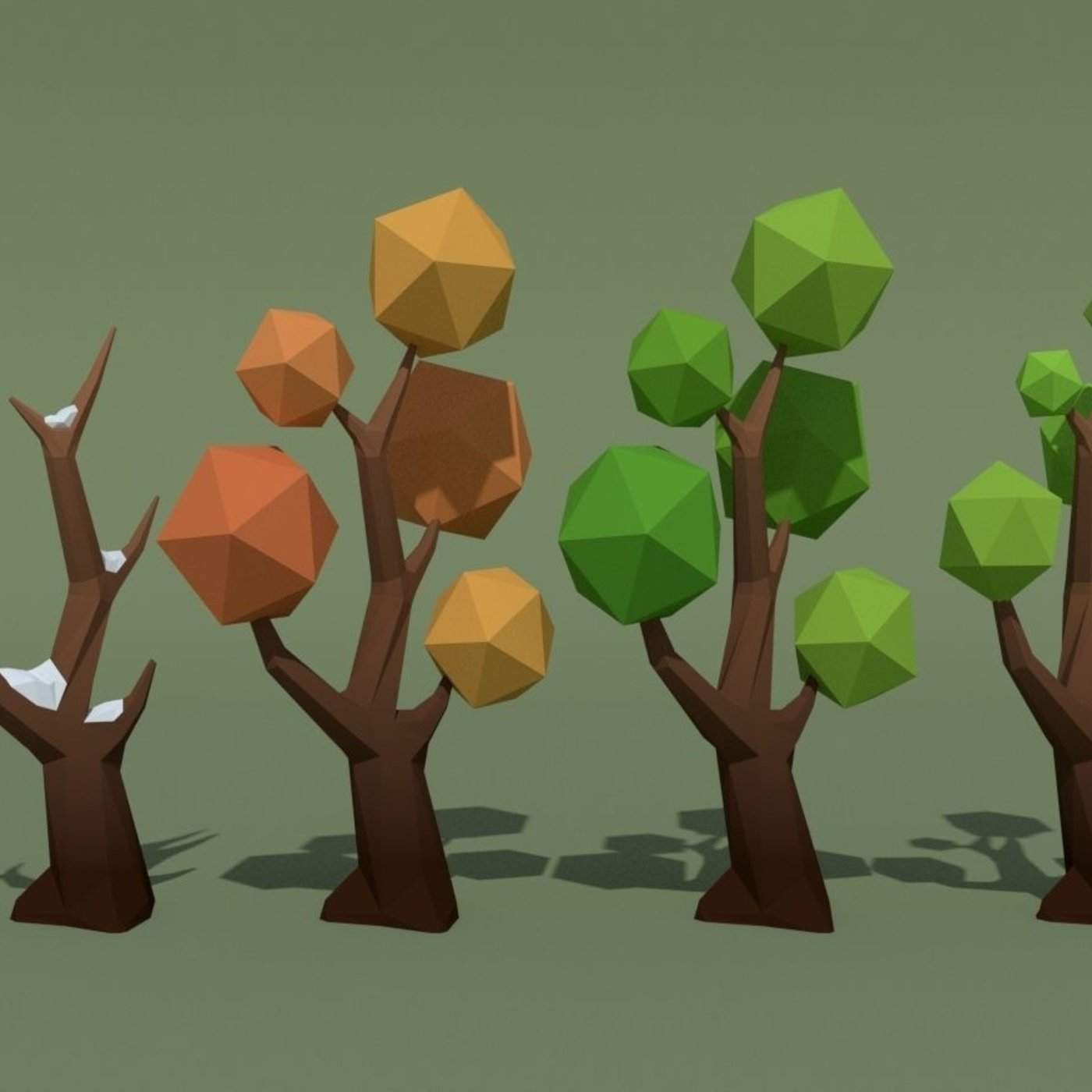 LowPoly Forest Pack