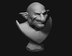 Old Elf Smile Bust 3D printable model