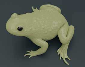 Bombina Variegata Fire-bellied mountain toad frog 3d