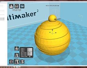 Snowflake 3D printable model house christma-ball