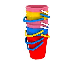 3D asset Bucket and spade 08