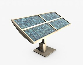 industrial 3D model game-ready Solar panel