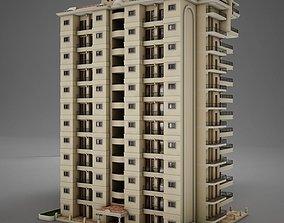 3D model BIG Tropical Latin Mexican Beach Tower Hotel