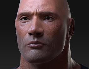 Dwayne Johnson Bust Model 3D
