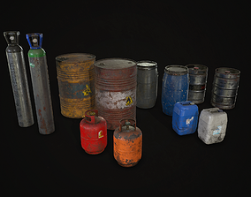 Barrels Drums and Containers 3D model