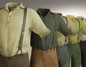 3D model Five Farmer Man Clothes
