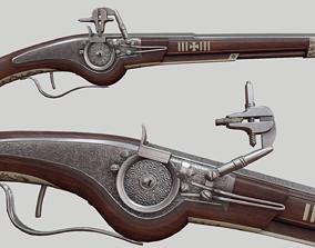 17th Century Wheellock Pistol 3D model