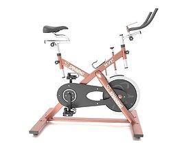 Stationary Spinning Bike 3D Model game-ready