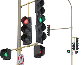Traffic Lights stop 3D