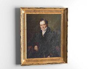 Portrait of Giuseppe Poldi Pezzoli painting 3D
