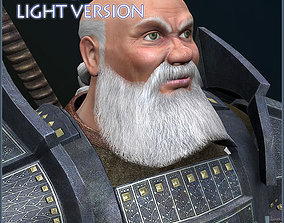 3D asset animated Dwarf Champion Light Version