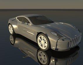 Aston Martin One-77 3D model game-ready