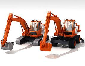 3D model Bres500 Excavators collection