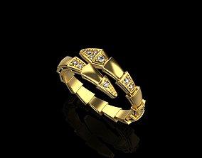 rings 3D print model Bvlgari serpenti ring 2