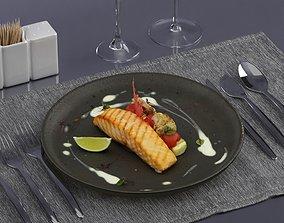3D model Fried fish 0004