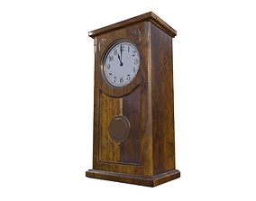 3D asset Vintage Wall Clock Game Ready