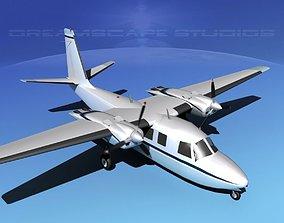 Rockwell Aero Commander 560 V08 3D