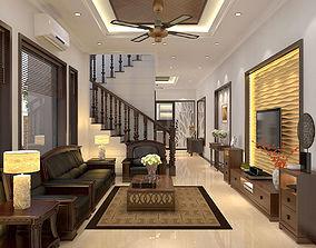Livingroom and diningroom asian 3D