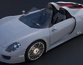 Porsche 918 Spyder 3D model low-poly