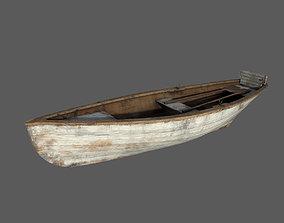 Row boat 3D asset