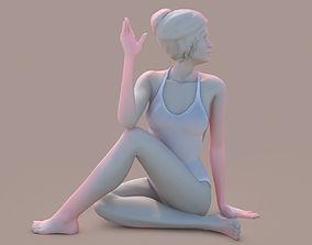 3D printable model girl Woman Yoga 08