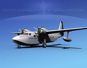 Grumman G-73 Mallard Pan Am 3D model