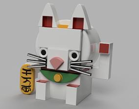 art Maneki Neko or Keychain 3D printable model