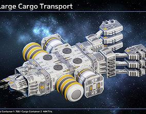 Spaceship Super Large Cargo Transport 3D asset PBR