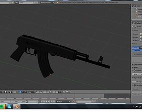 3D model military ak 47