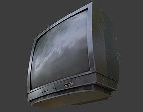 retro tv set with 2k pbr textures 3D model