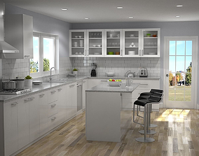 Kitchen Interior 01 3D
