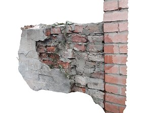 3D model Fragment of an old wall with texture for virtual
